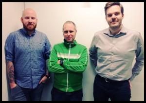 Sebastian, Johan och Stig.