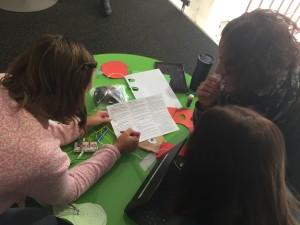 Deltagarna fick reflektera över uppgiften kopplat till förskolans läroplansmål med hjälp av ett lotusdiagram.